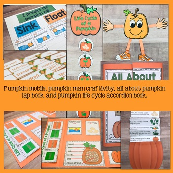All About Pumpkins  Reading, Writing, Science, and Math With Lap Book
