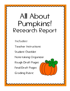 All About Pumpkins Research Project