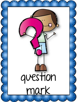 All About Punctuation Book Activity to Create and Posters
