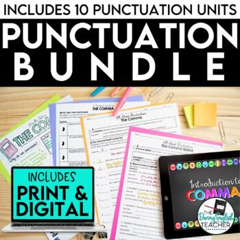 Punctuation Teaching Pack: Lessons, PowerPoint presentations, activities, tests