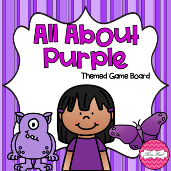 All About Purple Themed Game Board