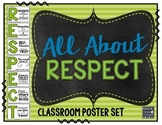 All About RESPECT! Classroom Poster Set with Strategies fo