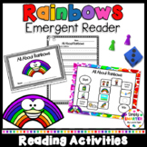 All About Rainbows Emergent Reader Book AND Interactive Ac