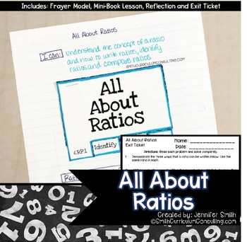 All About Ratios Lesson for Interactive Notebooks | TEKS 6.4b, 6.4c and 6.4e