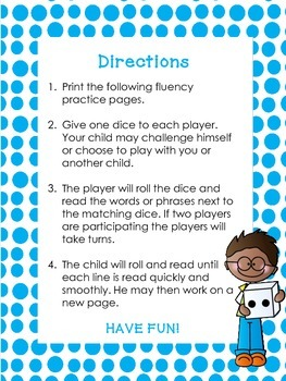 Roll and Read Dice Game