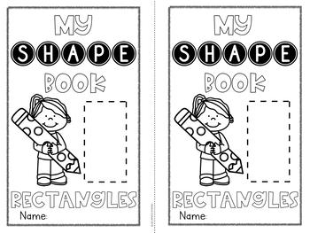 2D Shape Book Rectangles FREE