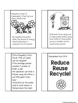 All About Recycling! Mini Book and Graphic Organizer
