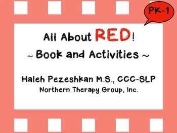 All About Red Interactive Book and Activities