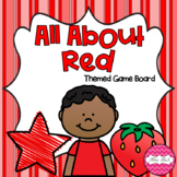 All About Red Themed Game Board
