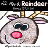 All About Reindeer! Literacy & Math Unit (2nd & 3rd Grade)