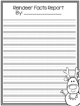 All About Reindeer Writing Paper and Organizers