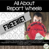 All About Me Report Wheels FREE