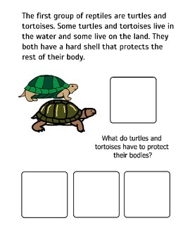 All About Reptiles! Adapted Book