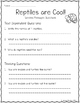 All About Reptiles: CCSS Aligned Leveled Reading Passages