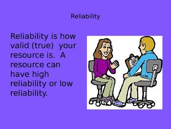 Research and Reliability PowerPoint