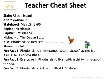 All About Rhode Island | US States | Activities & Worksheets