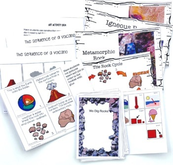 Rocks Interactive Book for Informational Text for Special Education