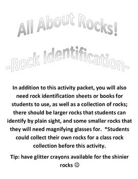 All About Rocks!  Rock Identification