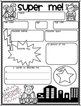 All About SUPER Me Poster Freebie! Back to School