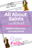 All About Saints Worksheet