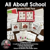 All About School Adapted Book Pack