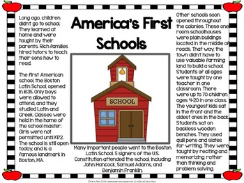 All About School Informational Text Posters and Coloring Book