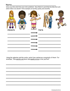 All About School; Lessons on nouns, adjectives, adverbs, and verbs