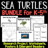 All About Sea Turtles - Emergent Readers, Printables and R