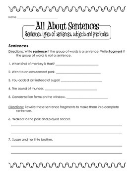 All About Sentences and Sentence Types
