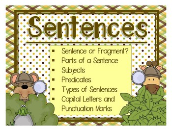 All About Sentences - 6 Sets of Task Cards