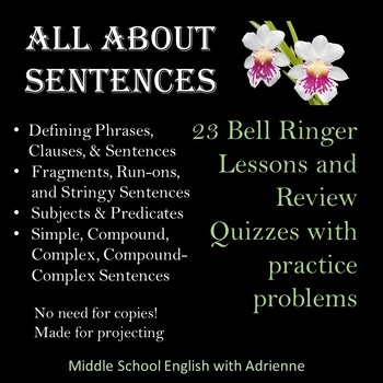All About Sentences Bell Ringers