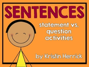 All About Sentences: Statement vs. Question Activities