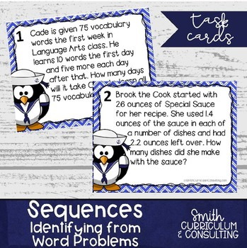 #mathdollardeals All About Sequences Task Cards