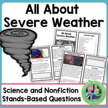 All About Severe Weather Informational Text Reader