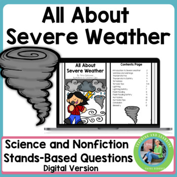 All About Severe Weather Using Google Slides: Paperless Digital Version