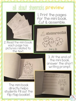 All About Shamrocks Flip Flap Book {with mini reader} St. Patrick's Day