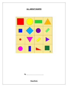 All About Shapes - A Whole Unit Activity Book