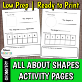 All About Shapes Activity Pages - Includes 15 Shapes!