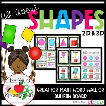 All About Shapes Bundle (2D & 3D Shapes)
