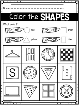All About Shapes (Virginia SOL K.10)