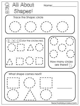 All About Shapes Worksheets. 10 Shapes Worksheets. Prescho