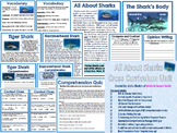Nonfiction Comprehension Sharks Unit
