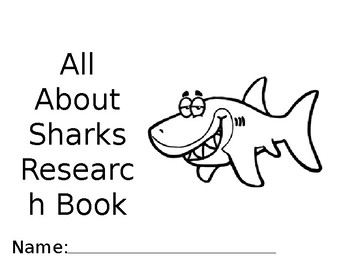All About Sharks Research Book
