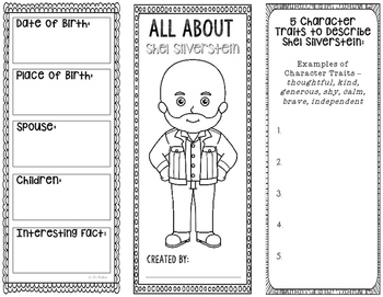 All About Shel Silverstein - Biography Research Project - Interactive Notebook