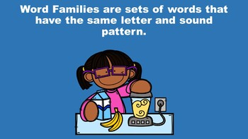 All About Short E Word Families - A PowerPoint Game