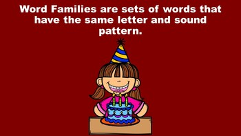 All About Short I Word Families - A PowerPoint Game