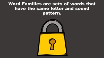 All About Short O Word Families - A PowerPoint Game