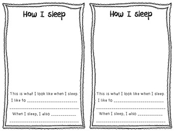 Create-a-Book About Sleep