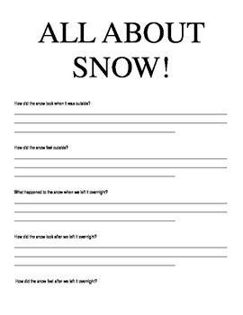 All About Snow!