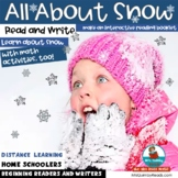 All About Snow   No Prep   January Literacy-Math   Printables
